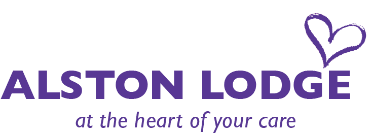 Alston Lodge - at the heart of your care logo (white)